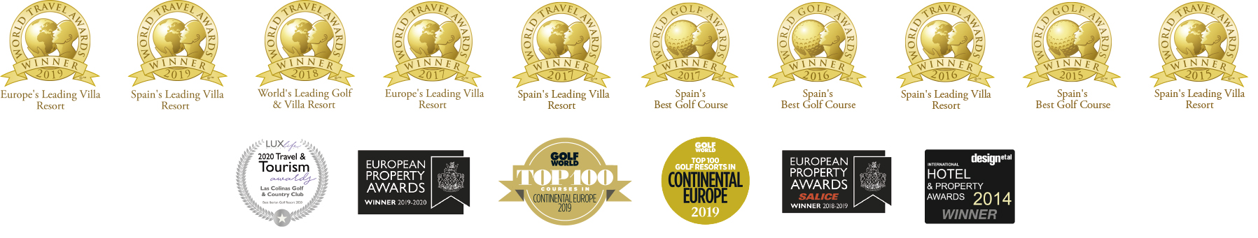 las colinas golf awards 2020